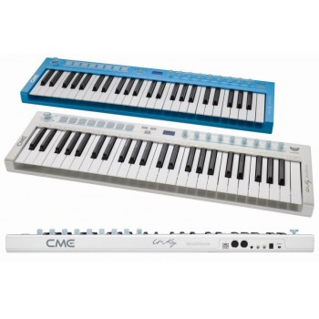 CME U-key , USBmidi-клав/ голубая/ 49клав/ 1джойстик/ 8вращ. 8кноп. контролл