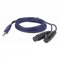 DAP-AUDIO сигнальный кабель 1,5 метра 2 XLR/F - Jack stereo