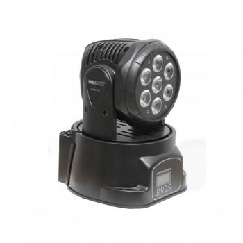Involight LED MH78W - LED вращающаяся голова, 7x8 Вт RGBW мультичип, DMX-512