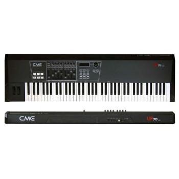 CME UF70 Classic , Проф. USBmidi-клав/ 76полувзв. кл/ Послекас. / 9движк. 5кноп. конт/ pitch&mod wheel/ 2зон
