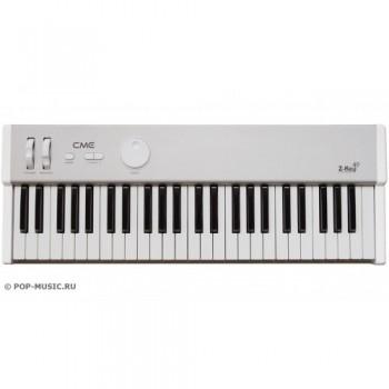 CME Z-Key 49 , MIDI-клавиатура 49 полувзв. клав/ посленажатие/ колёса тона и модуляции/ вход педали