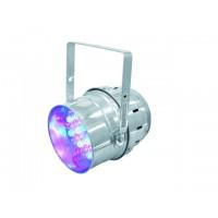 EUROLITE LED PAR-64 RGB 36x1W short silver светодиодный PAR
