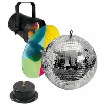 Showtec Mirrorball set 20 см набор - шар, мотор, подсветка