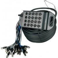 Proel TN1204LU50 - Коробка с кабелем 12 вх., 4 вых., 50 метров
